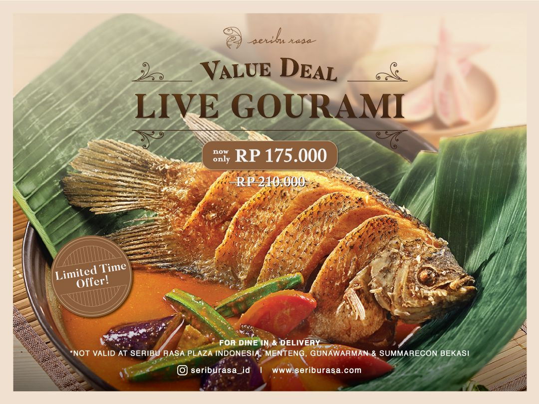 LIMITED TIME OFFER! LIVE GOURAMI NOW ONLY IDR 175,000! image