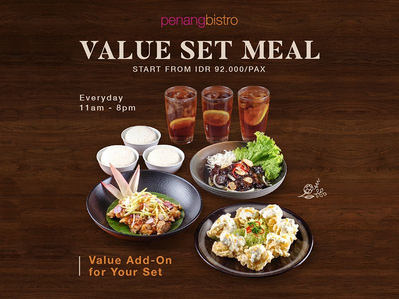 VALUE SET MEAL START FROM IDR 92,000 / PAX image