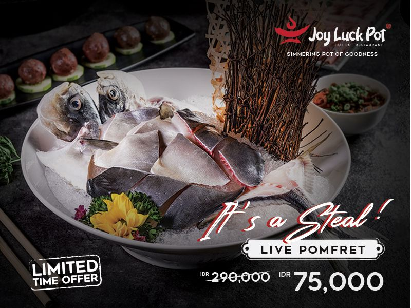 IT'S A STEAL - LIVE POMFRET FOR ONLY RP 75,000 image