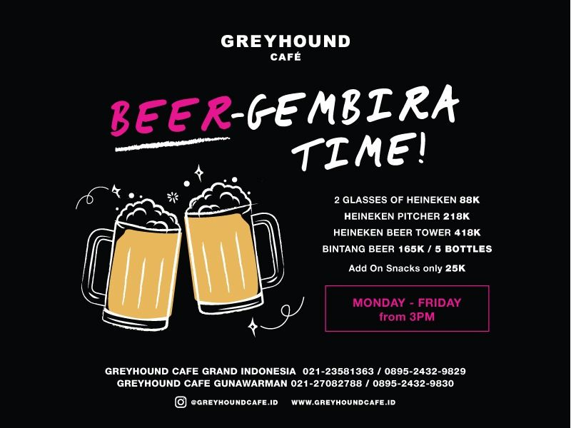 BEER-GEMBIRA TIME, MONDAY - FRIDAY FROM 3 PM image