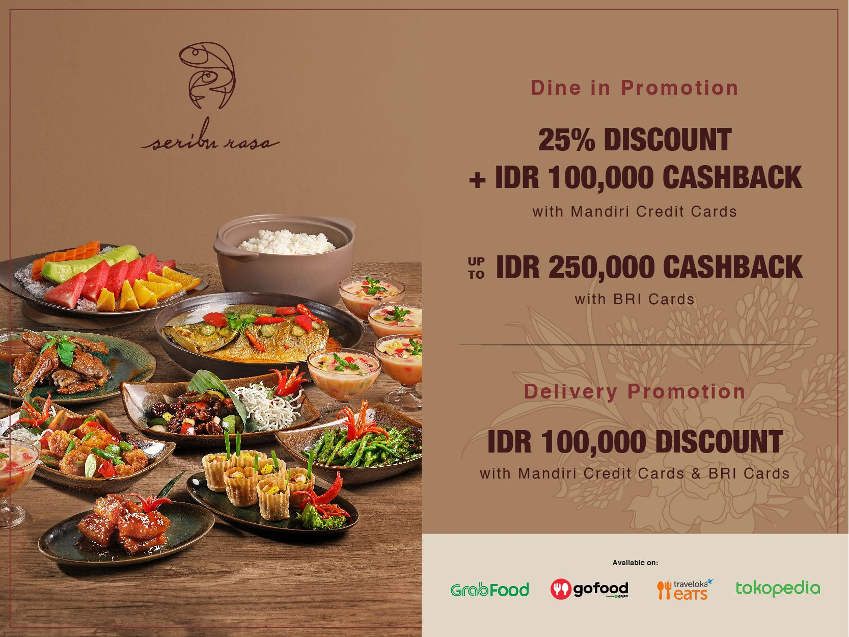 SERIBU RASA DINE-IN & DELIVERY PROMOTION image