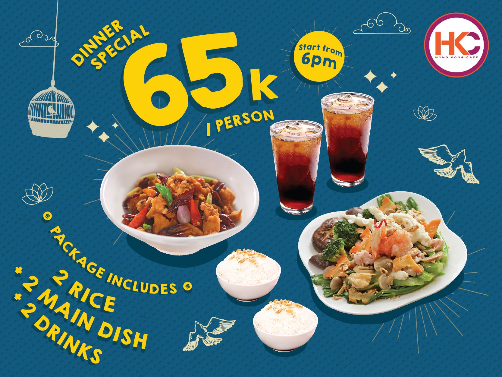 DINNER SPECIAL ONLY IDR 65K / PERSON image