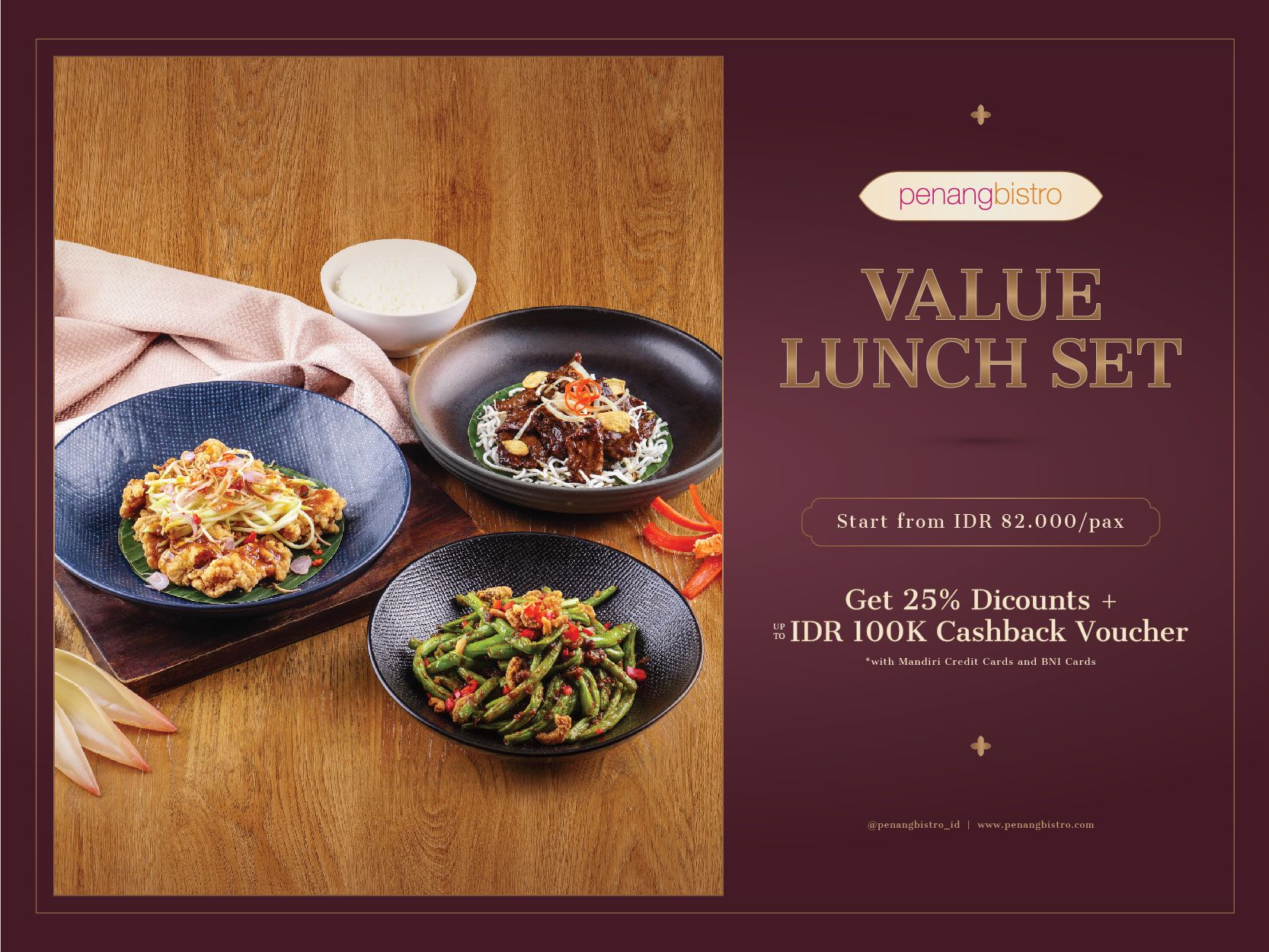 PENANG BISTRO VALUE LUNCH SET FOR 4 PAX image