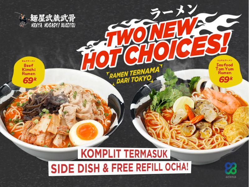 TWO NEW HOT CHOICES - TOM YUM & KIMCHI RAMEN image