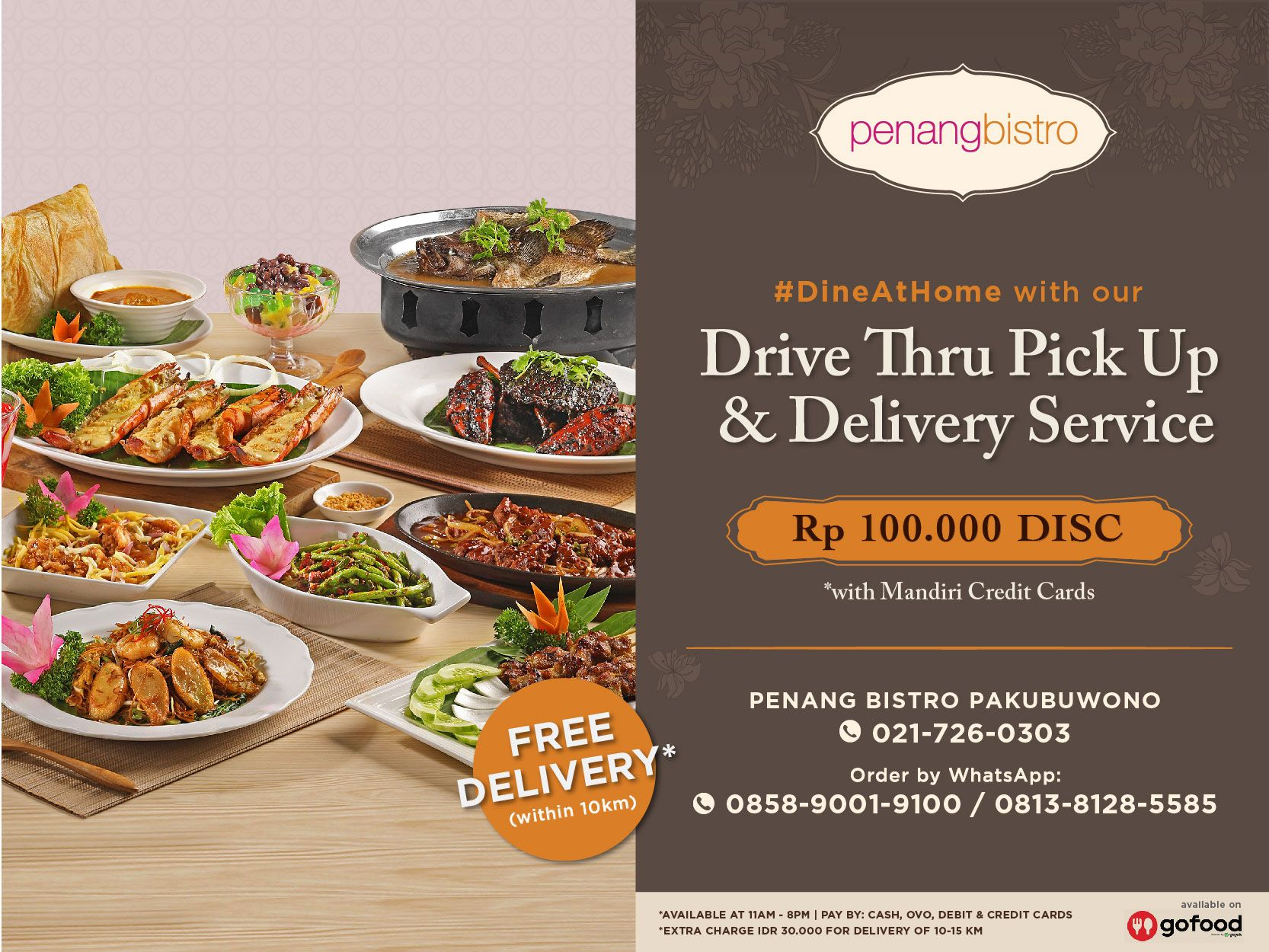 GET IDR 100,000 DISCOUNT FOR DRIVE THRU PICK UP & DELIVERY image