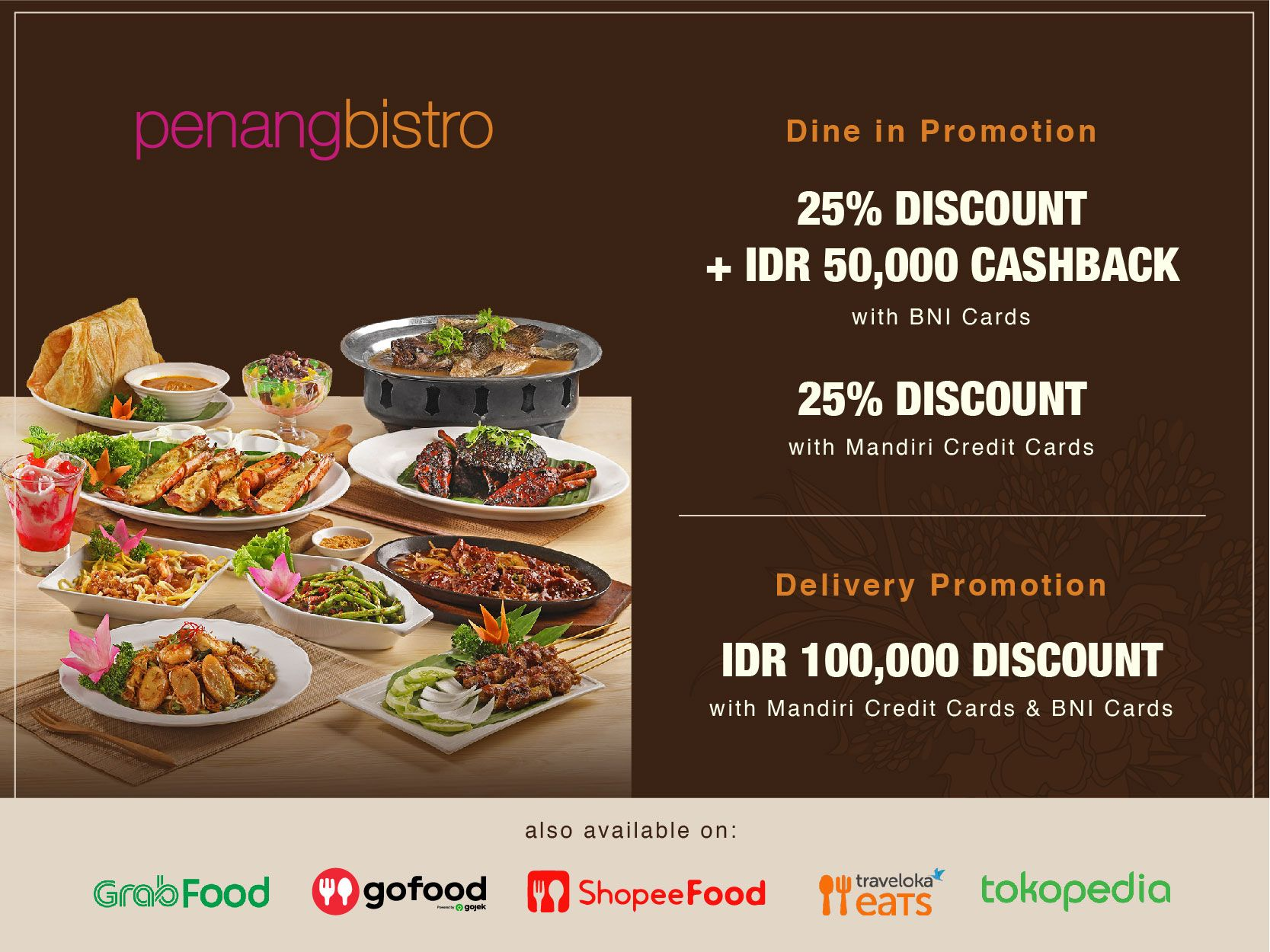 PENANG BISTRO DINE-IN & DELIVERY PROMOTION image