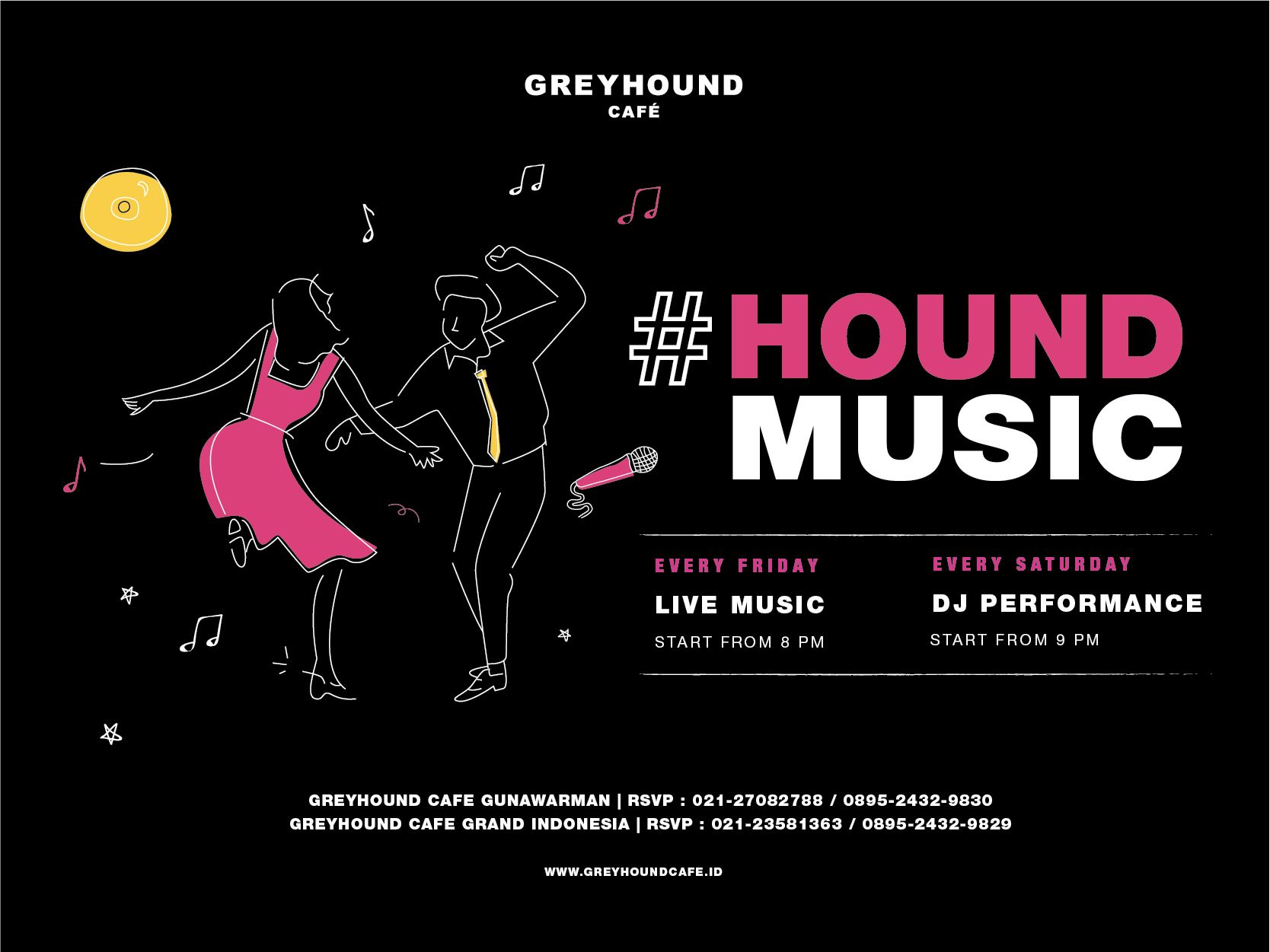 HOUND MUSIC EVERY FRIDAY AND SATURDAY AT GREYHOUND CAFE! image