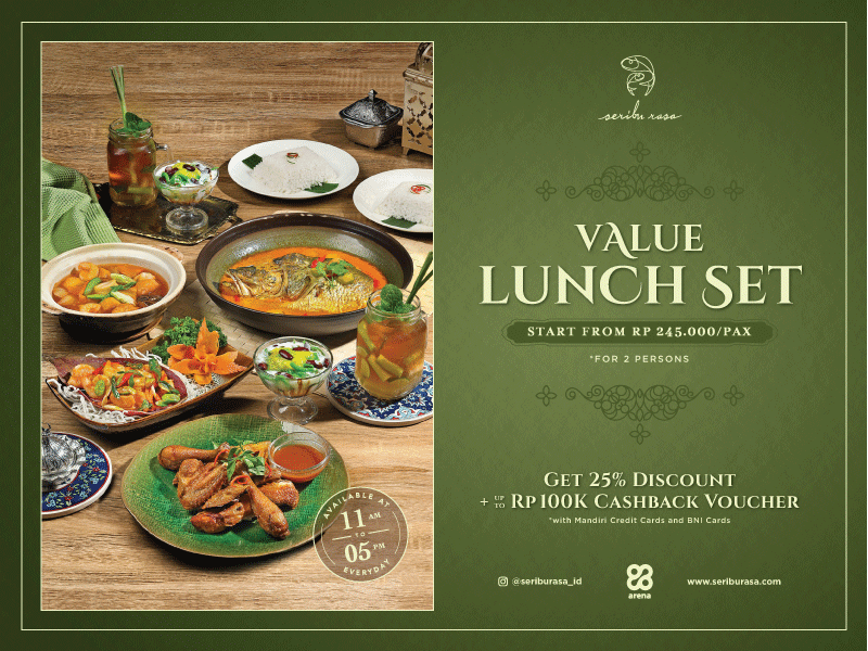 SERIBU RASA VALUE LUNCH SET FOR 2 PAX image