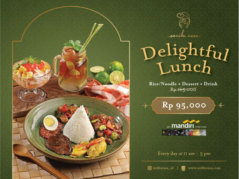 DELIGHTFUL LUNCH FOR ONLY IDR 95,000 WITH MANDIRI CREDIT CARD image
