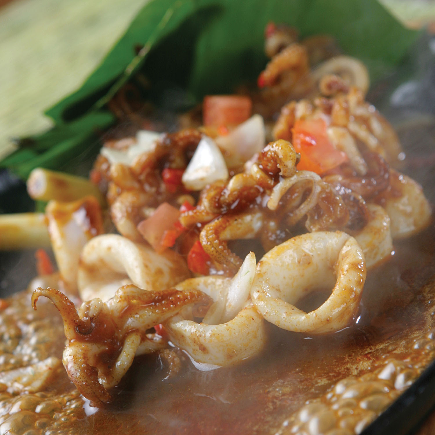 BAKED SQUID IN TOM YAM SAUCE